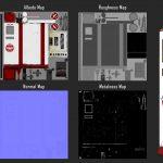 Portfolio laurent gosselin : Albedo, Roughness, Normal and metalness map
